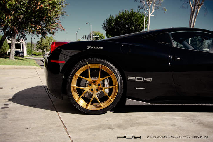attached images - Ferrari 458 Gold Wheels