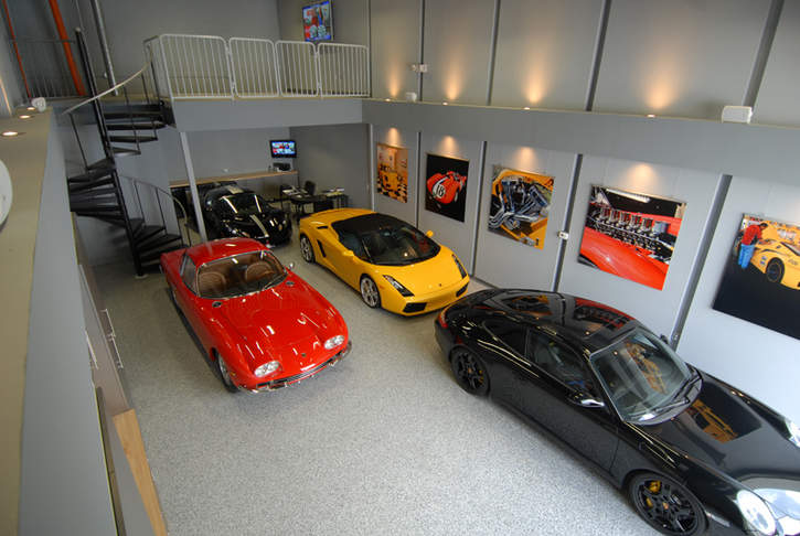Ferrari Man Cave Garage
