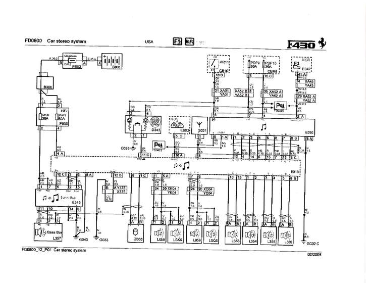 f430 stock stereo amplifier wiring - ferrari life, Wiring diagram
