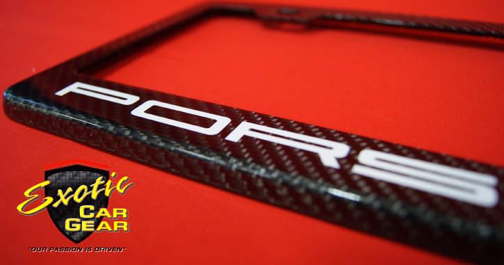 Exotic Car gear, Group Buy: Custom Carbon Fiber License Plate Frames ...