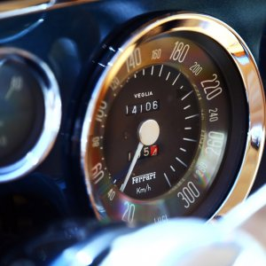 1962 Ferrari 250 GTE speedometer - Dreamin' of 300 kmh