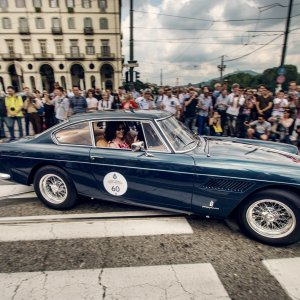 1962 Ferrari 250 GTE - Enjoying the ride in PIazza Vittorio Veneto, Torino