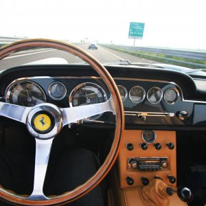 1962 Ferrari 250 GTE on the highway - Driving pleasure